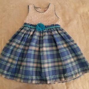 Lovely Dress with Eyelit Top & Blue Plaid Skirt